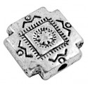 Grosse perle croix couleur argent tibetain-10mm