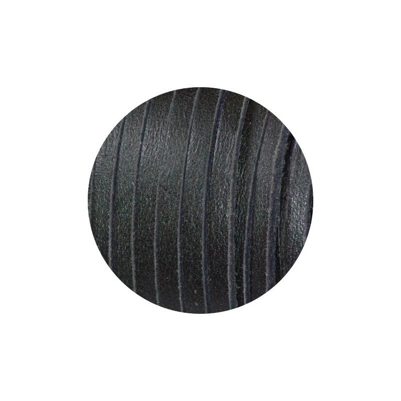 Cordon de cuir carre de couleur noire 3mm - Cuir au metre carre ...
