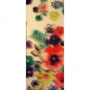 Sangle fantaisie plate 40mm imprimee fleurs-vente au cm