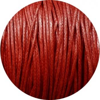 Coton cire rouge fonce-1mm