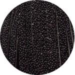 Cordon de cuir plat 5mm effet caviar noir-vente au cm