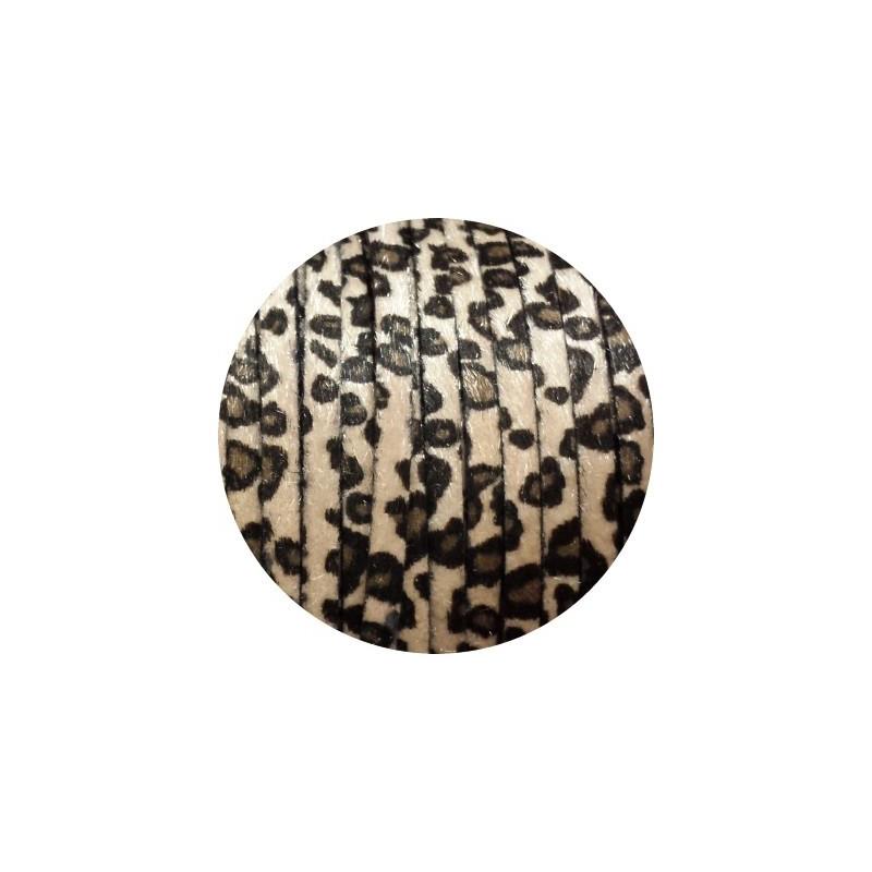 cuir plat de 6mm leopard beige poils synth tiques vendu au. Black Bedroom Furniture Sets. Home Design Ideas