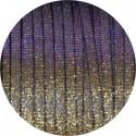 Cuir plat de 5mm irisé couleur marron or et rose